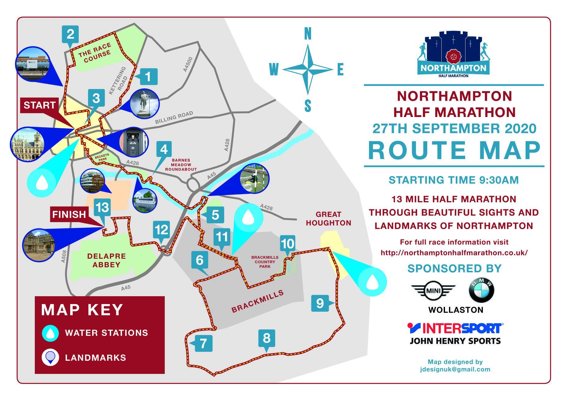 2020 Nothampton Half Route